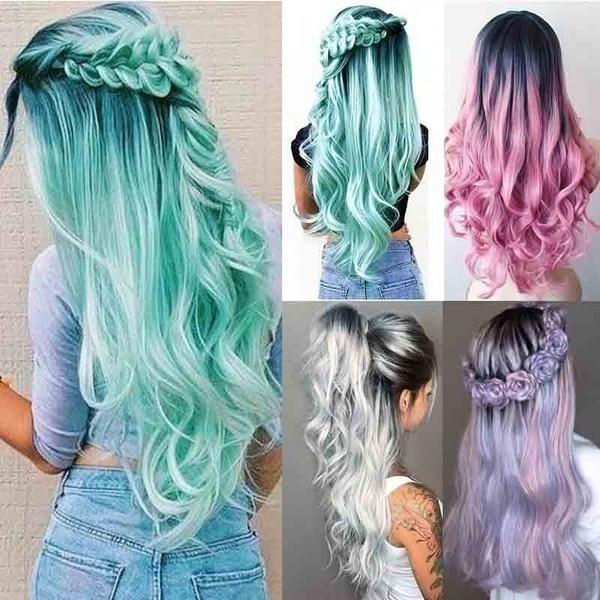 wig, pink, Fashion, curly wig