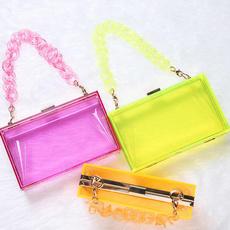 Box, Shoulder Bags, clutch bag, Plastic