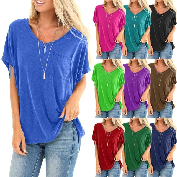 Summer, Plus Size, Cotton T Shirt, Tops & Tees