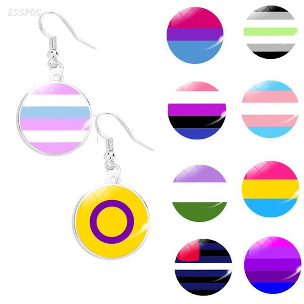 Rainbow LGBT Earrings Gay Pride Earrings Jewelry