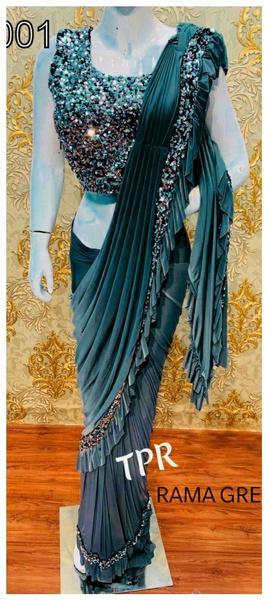 blouse, saree, sari, ruffle