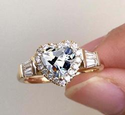 glamorous, Heart, DIAMOND, Jewelry