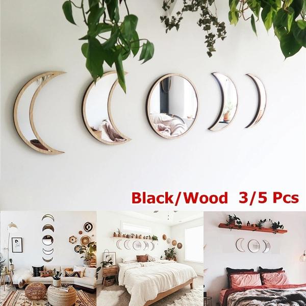 moonphasemirror, Home Decor, kidsroom, Wooden