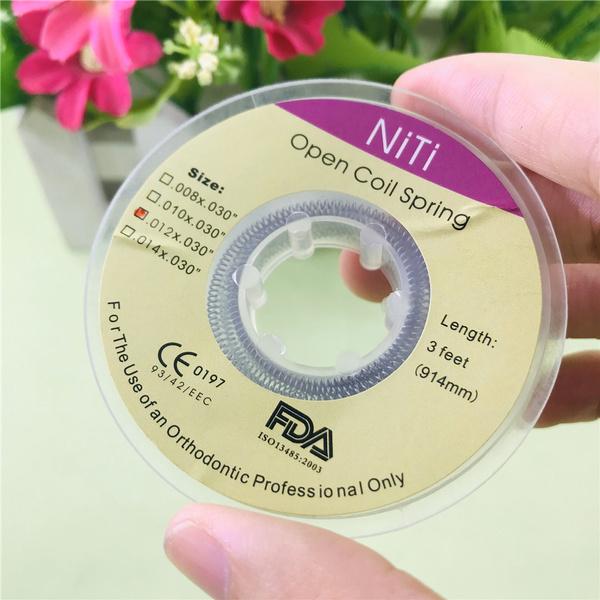 dentalorthodonticnitiopencoilspring, dentaloralcare, orthodonticnitiopencoilspringspool, length914mm3feet