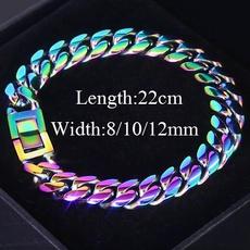 Steel, rainbow, Jewelry, hiphopbracelet