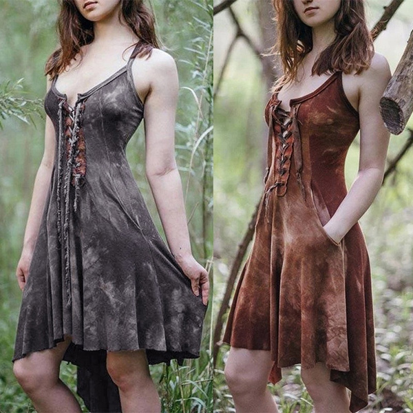 Summer, dressesforwomen, halter dress, Medieval