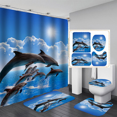 Bathroom Accessories, Home Decor, Waterproof, showercurtainset