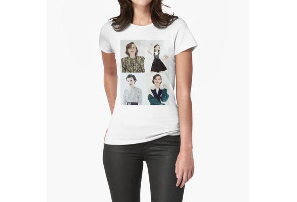 Women Printing Stranger Things T Shirt Millie Bobby Brown Collage White Cotton Shirt Wish