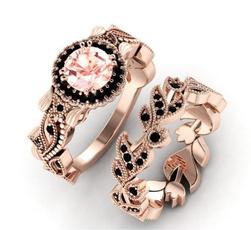 Engagement Wedding Ring Set, 925 sterling silver, wedding ring, gold