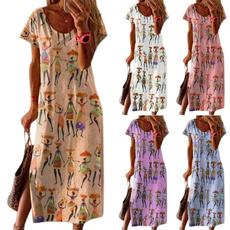 Summer, short sleeve dress, Sleeve, Ethnic Style