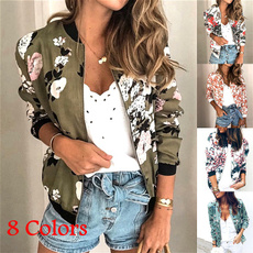 Casual Jackets, Plus Size, floraljacket, Long Sleeve