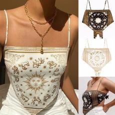 Fashion, crop top, print shirt, Tops