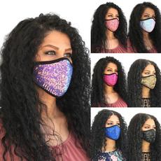 cottonfacemask, Fashion, dustmask, sequinmask
