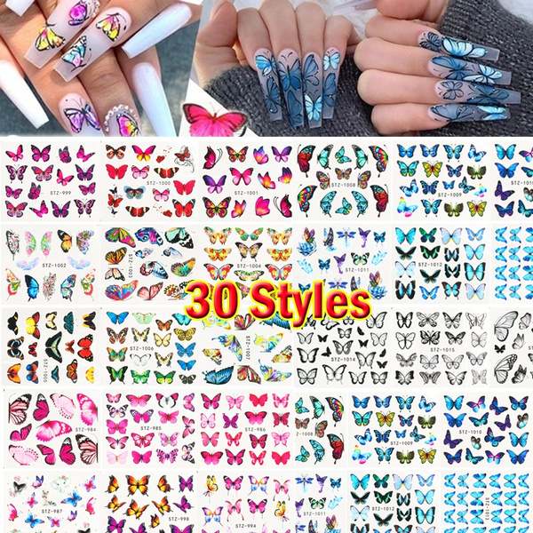 butterfly, water, nail decals, Fashion