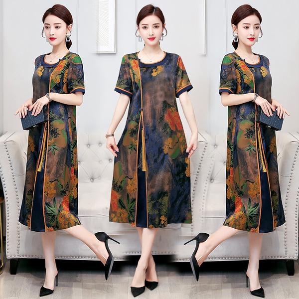 short sleeves, Summer, short sleeve dress, koreanbigsize