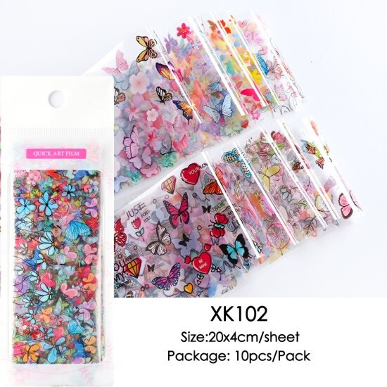 butterfly, nail decoration, nail stickers, Flowers