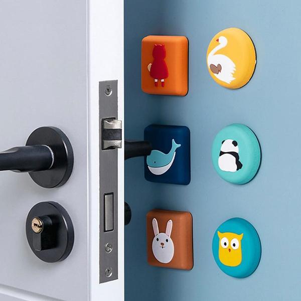 siliconeprotectionpad, swan, Door, cartoonsiliconedooranticollisionpad