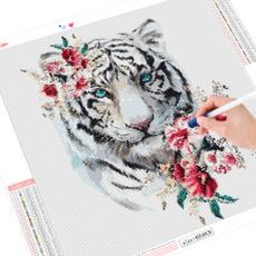 crossstitch, Tiger, DIAMOND, art