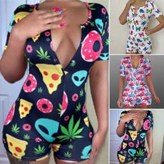 sleeve v-neck, Summer, Shorts, women39sfashion