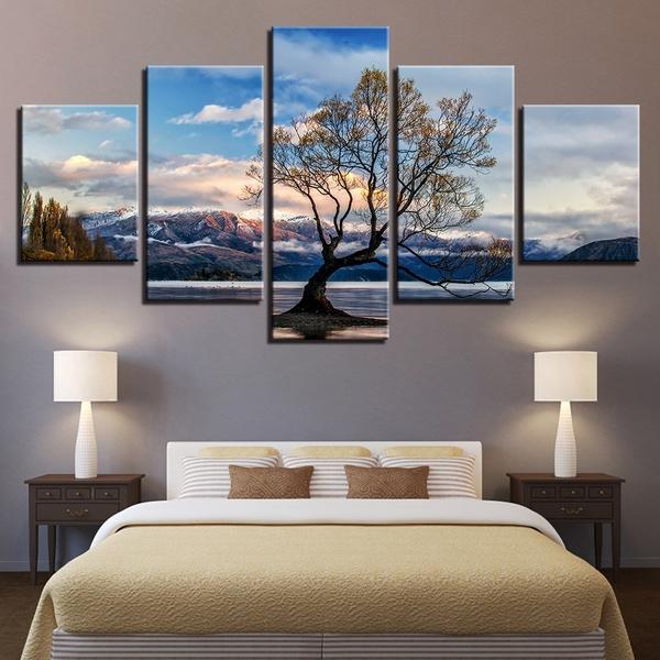 Blues, Mountain, Decor, Wall Art