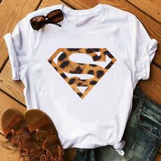 Summer, Fashion, Cotton T Shirt, leopardtshirt