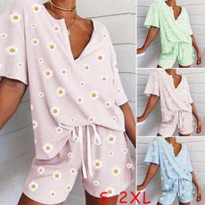 topsandshortsset, Fashion, daisy, Pajamas