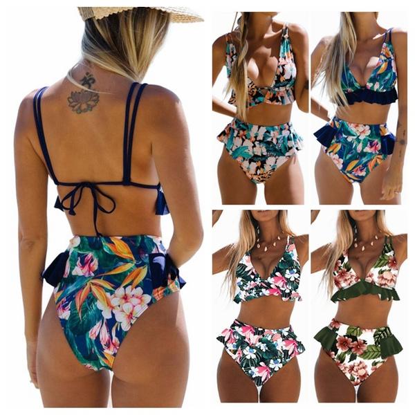 Fashion, ruffle, bikini set, Women's Fashion
