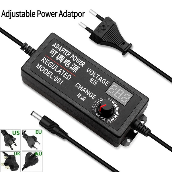 Adjustable Voltage 3V-12V 5A Charger Power Supply Adapter with Display Screen hudiemm0B Adjustable Power Adapter