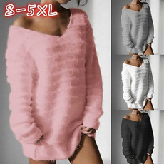 Plus Size, Winter, Long Sleeve, Casual sweater