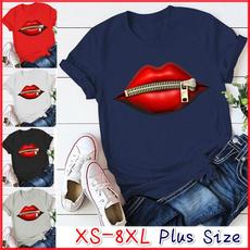 ladyshirt, Plus Size, Cotton T Shirt, Printed Tee