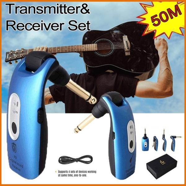 guitarwirelessaudiotransmitterreceiver, Electric, Battery, strongsignal