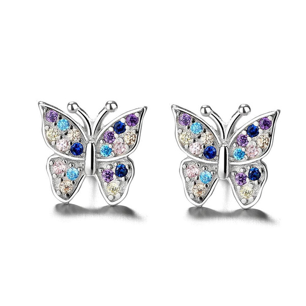 Sterling, butterfly, Jewelry, Crystal
