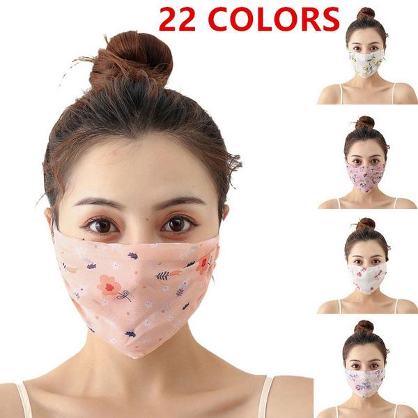 Summer, silkmask, chiffon, printedmask