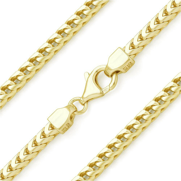 Sterling, yellow gold, Jewelry, Chain
