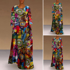 vestidoscasuale, Plus Size, Spring/Autumn, long dress