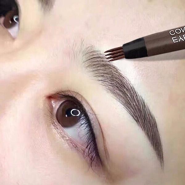 pencil, eye, liquid, brown