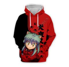 3d sweatshirt men, Plus Size, Hoodies, inuyasha