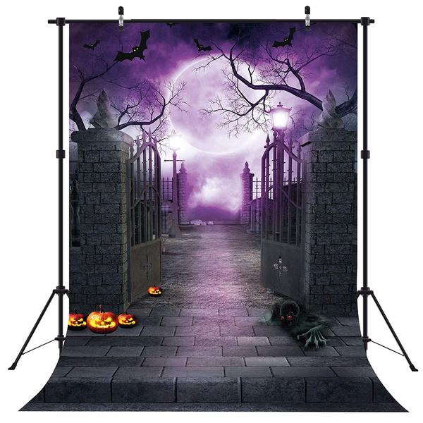 Decor, studioequipment, purple, halloweenwalldecor