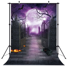 Decor, studioequipment, purple, halloweenwalldecor