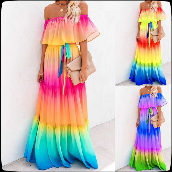 rainbow, tieredmaxidre, Fashion, tiedyedre
