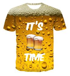 Summer, beerpattern, funny3dtshirt, 3dshortsleevetshirt