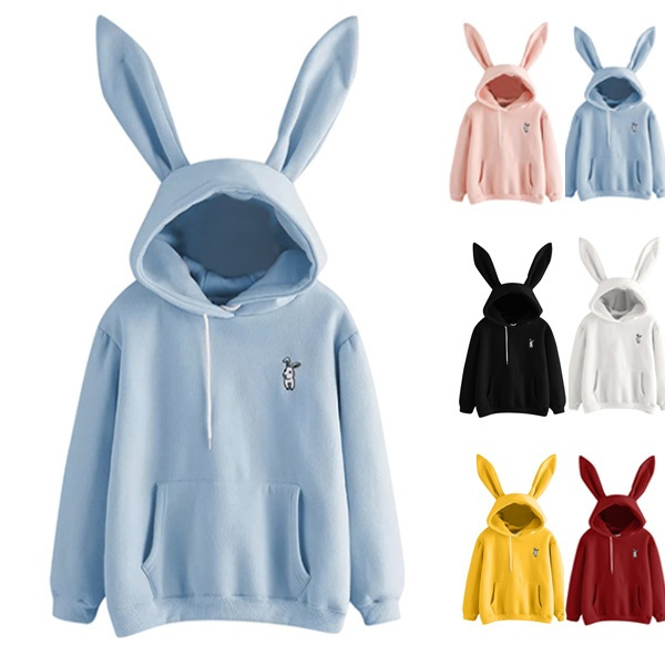 cute, Fleece, Fashion, rabbitearphonesweater
