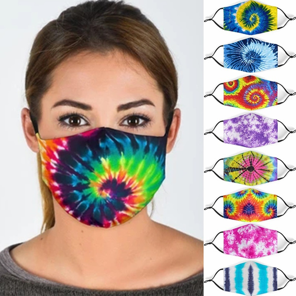 mouthmask, Masks, Women's Fashion, tiedyemask