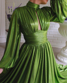 Swing dress, Sleeve, Cocktail, Elegant