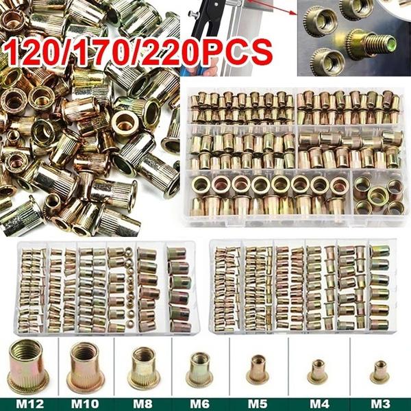 threadnut, Steel, rivetingtool, blindrivetnut