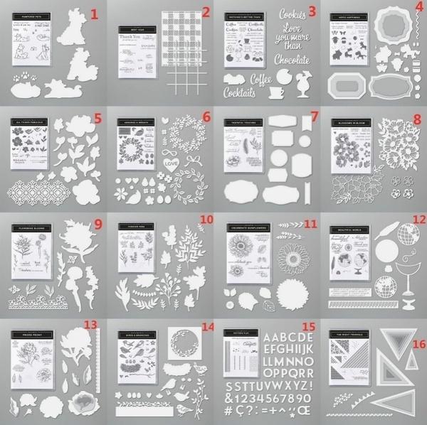 siliconestamp, rubberstamp, Metal, stampset