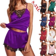 sleeveless, Satin, Plus Size, Lace