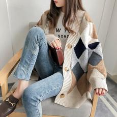 womenloosecardigan, Fashion, Knitting, Sleeve