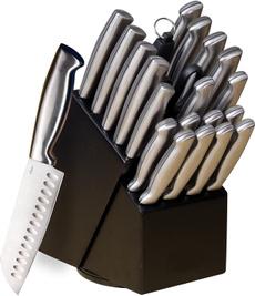 Steel, knifesetwithblock, chefknife, knifeblockset
