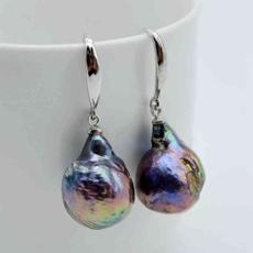 Sterling, bluegreenblack, fashiontrend, Pearl Earrings